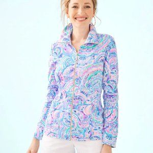 Lilly Pulitzer Leona Zip Up Happy as a Clam